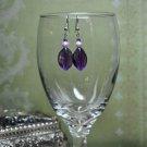 Purple Chunky Bauble Bead Dangle Earrings