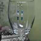 Blue Regal Drop Bead Earrings