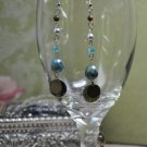 Tiger Eye Gemstone Drop Bead Earrings