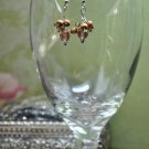 Shimmer Brown Drop Earrings