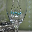Teal Swarovski Crystal Blue Chandelier Earrings