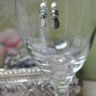 Unique Pearl and Crystal Charm Teardrop Handmade Earrings