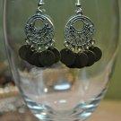 Brown Bohemian Disc Chandelier Bead Earrings Handmade