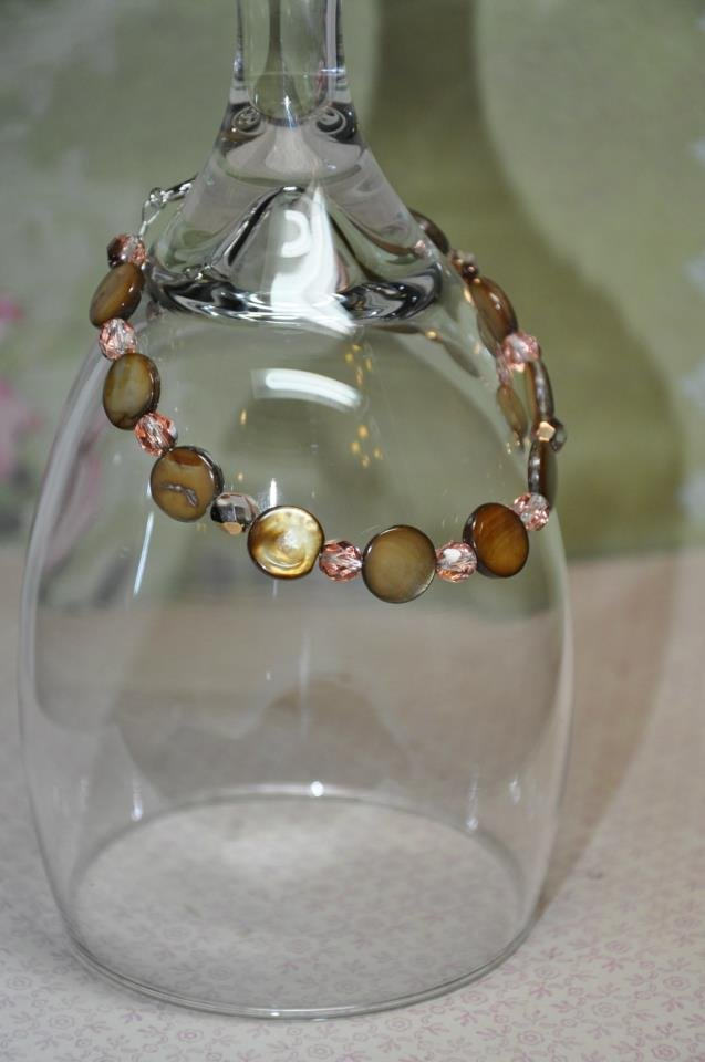 Natural Brown Pearl Chip Bead Bracelet