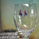 Unique Pink Swarovski Drop Pendant Earrings