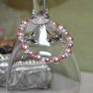Pink Stretchy Swarovski Crystal Bead Bracelet