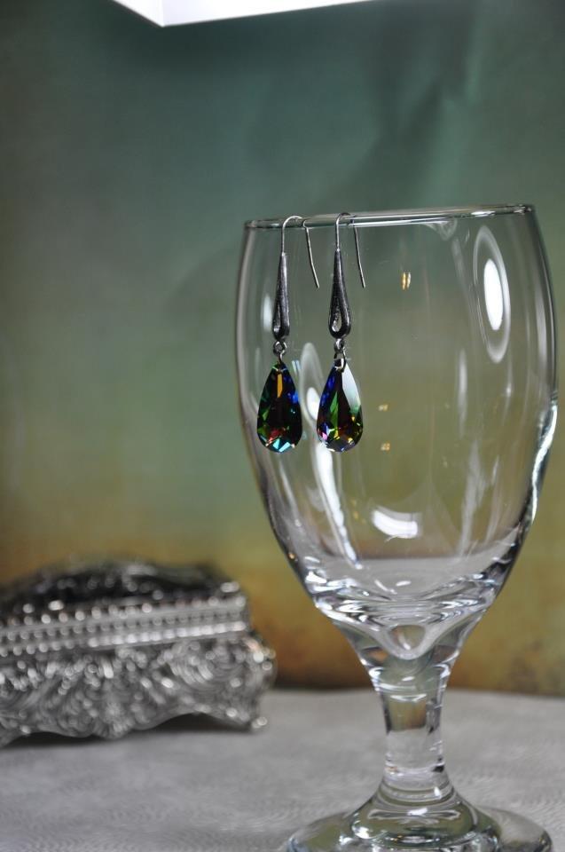 Vitral Swarovski Pendant Drop Earrings