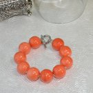 Unique Chunky Orange Stone Bead Handcrafted Bracelet by Studio Bead Artist