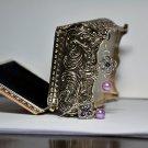 Soft Purple Glass Pearls With Swarovski Crystal Silver Flower Charm Bead Drop Earrings Handmade