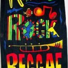 Jamaican roots rock reggae beach towel