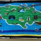Map of Jamaica Beach Towel