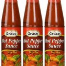 Grace Hot Pepper Sauce No MSG3 oz (Pack of 6)