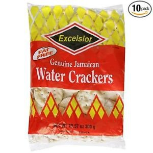 EXCELSIOR JAMAICAN WATER CRACKERS 11.85 OZ , FAMILY SIZE, (PACK OF 10)
