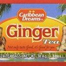 CARIBBEAN DREAMS 100% JAMAICAN GINGER HERBAL TEA (3 PACKS)
