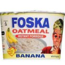 JAMAICAN FOSKA INSTANT BANANA OATMEAL PORRIDGE BREAKFAST HOT CEREAL ( PACK OF 6)