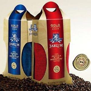2 jablum gold jamaica blue mountain coffee organic roasted beans & ground 16 oz