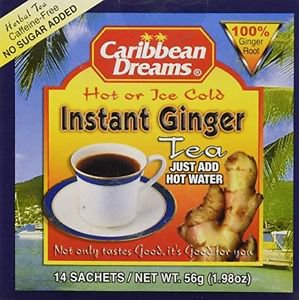 CARIBBEAN DREAM INSTANT GINGER TEA UNSWEETENED