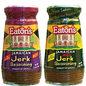 Eaton's Jamaican HOT and MILD Jerk Seasoning 11oz (Pack of 2)