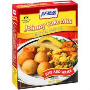 J.F. MILLS JOHNNY CAKE MIX 500G