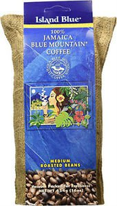ISLAND BLUE JAMAICA MOUNTAIN COFFEE ROASTED BEANS 10 LBS