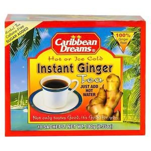 CARIBBEAN DREAMS INSTANT SWEETENED GINGER TEA (10 SACHETS)