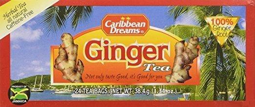 CARIBBEAN DREAMS  JAMAICAN GINGER HERBAL TEA (3 PACKS)