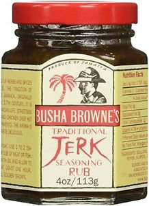 Busha Browne Jerk Seasoning Rub, 4 oz (Pack of 3)