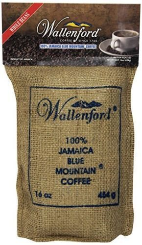 Wallenford Roasted Whole Bean Jamaica Blue Mountain Coffee, 16 oz