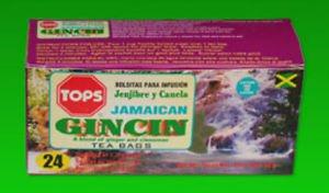 TOPS JAMAICAN  GINCIN DIABETIC TEABAGS (PACK OF 3)
