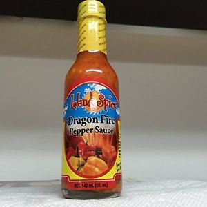 ISLAND SPICE DRAGON FIRE PEPPER SAUCE 5 OZ (PACK OF 6)
