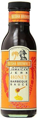 Busha Brownes Jerk Honey BBQ Sauce, 12 Ounce (pack of 2)
