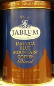 JABLUM 100% BLUE MOUNTAIN COFFEE BLEND ROASTED & GROUND 8 OZ TIN