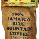 JAMAICA BLUE MOUNTAIN COFFEE WHOLE BEANS 1 POUND