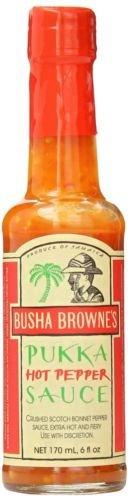 Busha Browne's Hot Pepper Pukka Sauce 5 oz (pack of 6)