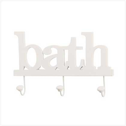 Bath Clothes Hook Wall Plaque