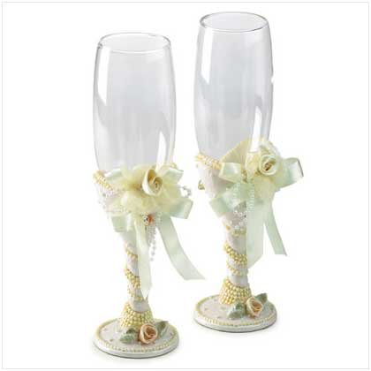 Beaded Glass Goblets