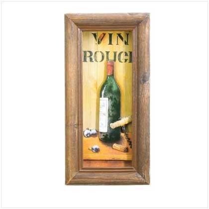 Vin Rouge Shadowbox Art