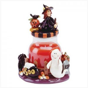 Witch Topped Candle Jar