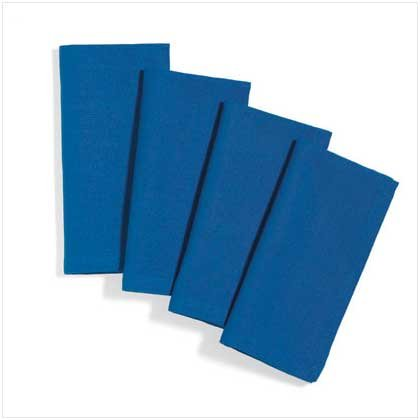 Blue Table Napkins Set