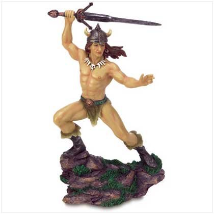 Viking Warrior with Sword Figurine