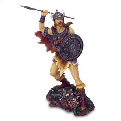 Viking Warrior with Shield Figurine