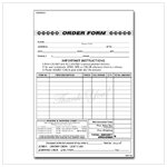 Order Forms with Carbon Copy