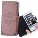 PU Leather Pouch Back Case for iPhone 5 - The Classic