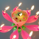 Beautiful Music Blossom Lotus Flower Candle Birthday Party Music Sparkle cake candle