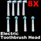 Set of 8 Electric Toothbrush Head Replacement ForOral B- Color Identifier