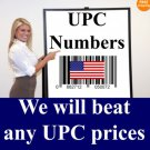 1000 UPC  Barcodes EAN Numbers Certified for Amazon, ecrater and Other Web Stores