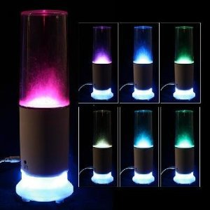2 in 1 Mini USB Speaker LED Colorful Touch Sensor Water-drop Table Lamp Light