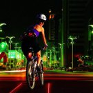 BICYCLE REAR Tail 5 LED +2 laser SAFETY Flashing Lights