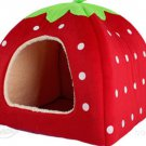 Strawberry Shape Folding Pet Nest Dog Cat Bed Medium