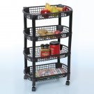 Rolling  4 tier rolling Kichen Cart Black or white